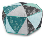Fabric Hexagon Pouf