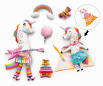 Fabric Magical Rainbow Unicorn Dolls