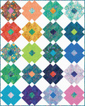 Fabric Flower Tile Quilt