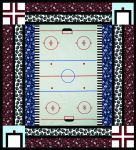 Pattern Playing Field: Hockey Rink quilt