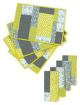 Fabric Colorblock Placemats and Napkins