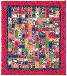 Fabric Dinorama Rag Quilt