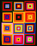Pattern Colorful Kona Squares