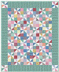 Fabric Pinwheel Fancy Quilt