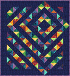 Fabric Four Patch Charm Quilt