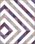 Pattern Asymmetrical Diamond: Grape colorstory