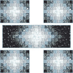Pattern Emanating Light Runner and Placemats: Silver