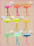 Fabric Florence Flamingo