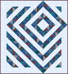 Pattern Four Patch Charm Quilt: Four Patch Charm Quilt totally tropical