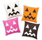 Fabric Double Sided Jack-O-Lantern Pillows