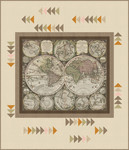 Pattern World Hemisphere: Parchment