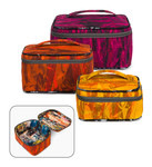 Pattern Crimson and Clover Train Cases