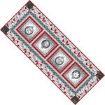 Pattern Festive Table Runner: Silver