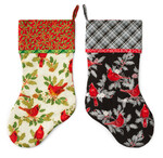 Pattern Sleigh Bell Stockings: Holiday