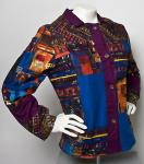 Fabric Patchwork Coat
