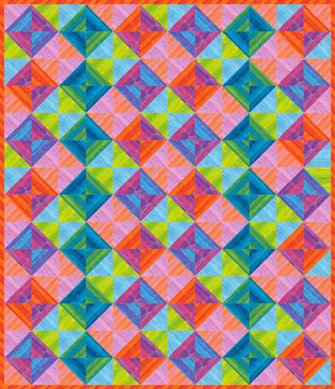 Quilt Patterns Using Stripe Fabric : Striped Squares Free Pattern: Robert Kaufman Fabric Company