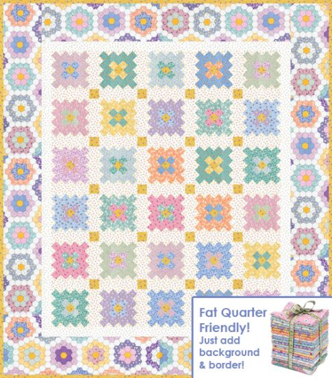 Almost A Flower Garden Free Pattern Robert Kaufman Fabric
