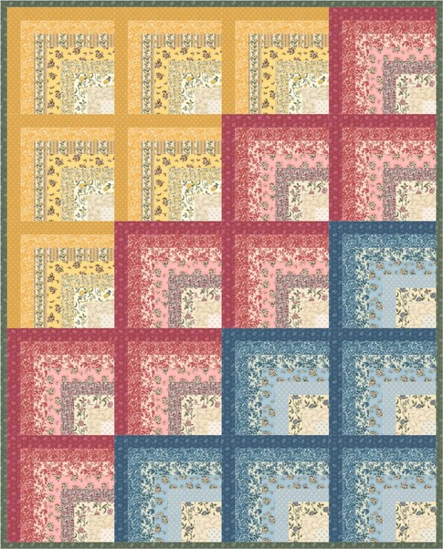Quilt Patterns With Floral Fabric : Floral Splendor Free Pattern: Robert Kaufman Fabric Company