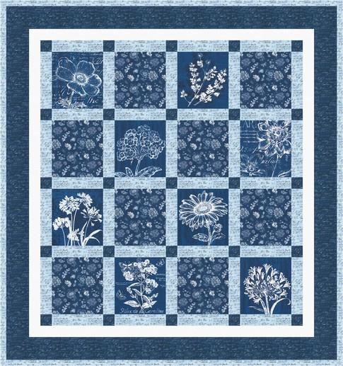 Floral blueprints free pattern robert kaufman fabric company malvernweather Image collections