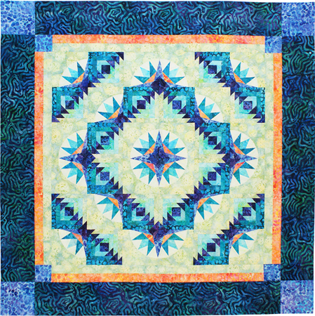 Free Star Flower Quilt Patterns : Bright Star Flower Designer Pattern: Robert Kaufman Fabric Company