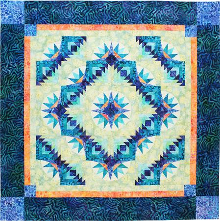 Free Star Flower Quilt Patterns : Bright Star Flower Designer Pattern: Robert Kaufman Fabric Company