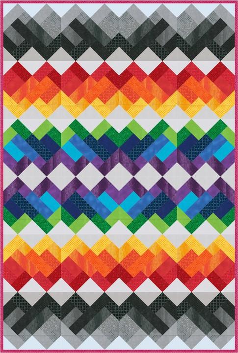 Rainbow Union Free Pattern Robert Kaufman Fabric Company