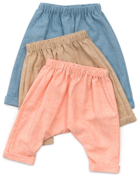Baby And Toddler Harem Pants Designer Pattern Robert Kaufman Fabric