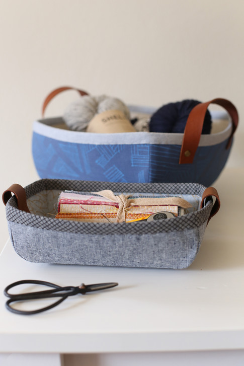 Tiny Treasures Basket and Tray Free Pattern: Robert Kaufman Fabric