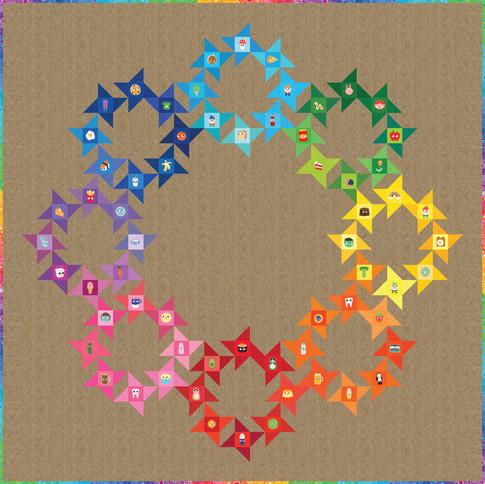 Circle Of Friends Free Pattern Robert Kaufman Fabric Company