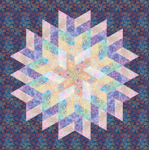 Free Quilt Patterns For Large Prints : Glimmer Designer Pattern: Robert Kaufman Fabric Company