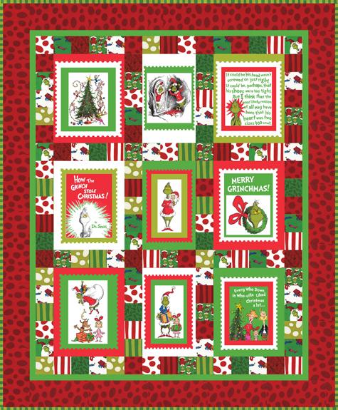 Merry Grinchmas Panel Quilt Free Pattern Robert Kaufman