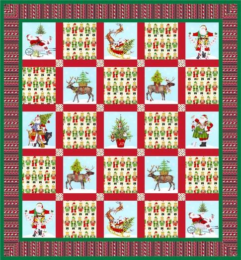 Christmas Checkerboard Free Pattern Robert Kaufman Fabric