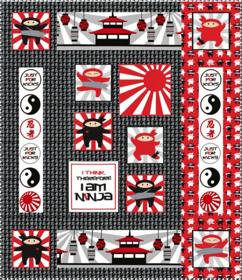 Mini Ninja Free Pattern: Robert Kaufman Fabric Company