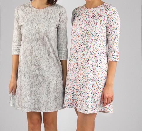 Knit Fabric Dress Pattern : Marianne Dress Designer Pattern: Robert Kaufman Fabric Company