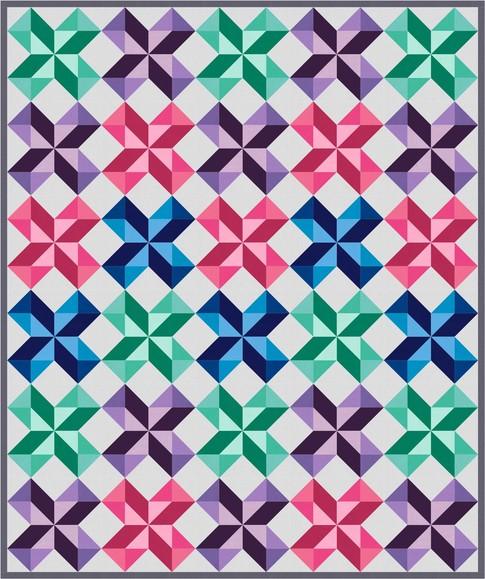 Chevron Stars Free Pattern: Robert Kaufman Fabric Company