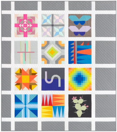 Free Quilt Block Design Program : Kona BOM Quilt Free Pattern: Robert Kaufman Fabric Company