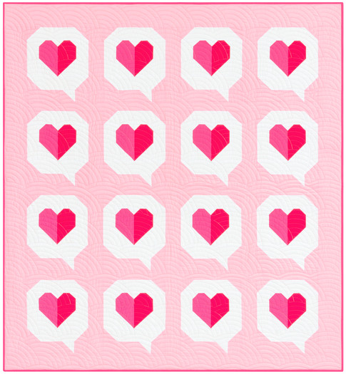 The Modern Holiday Collection I Heart You Quilt