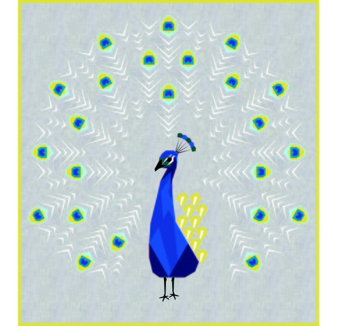 The Peacock Abstractions Free Pattern Robert Kaufman