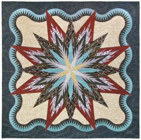 Lumina Feathered Star Designer Pattern Robert Kaufman