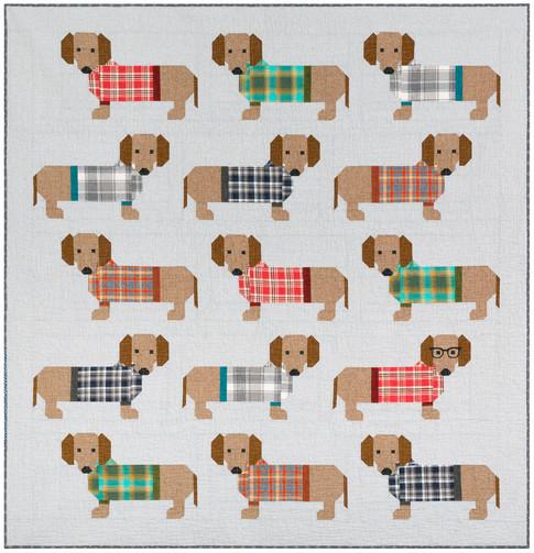 Dogs In Sweaters Designer Pattern Robert Kaufman Fabric