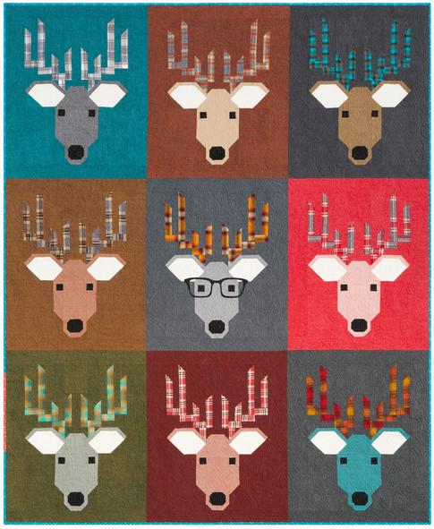 Dwight The Deer Designer Pattern Robert Kaufman Fabric