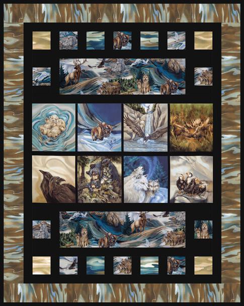 Bricks - North American Wildlife Designer Pattern: Robert Kaufman ... : wildlife quilt fabric - Adamdwight.com
