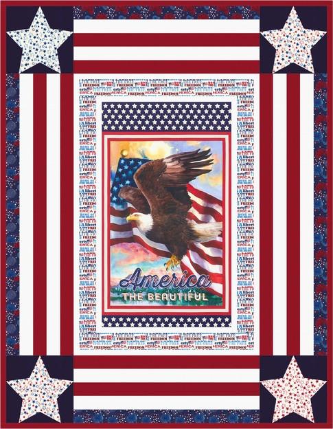 Star Spangled Free Pattern Robert Kaufman Fabric Company