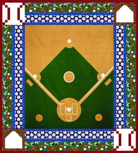 Playing Field Free Pattern Robert Kaufman Fabric Company Cool Baseball Quilt Pattern