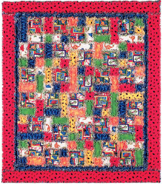 Dinorama Rag Quilt Free Pattern: Robert Kaufman Fabric Company : free flannel quilt patterns - Adamdwight.com