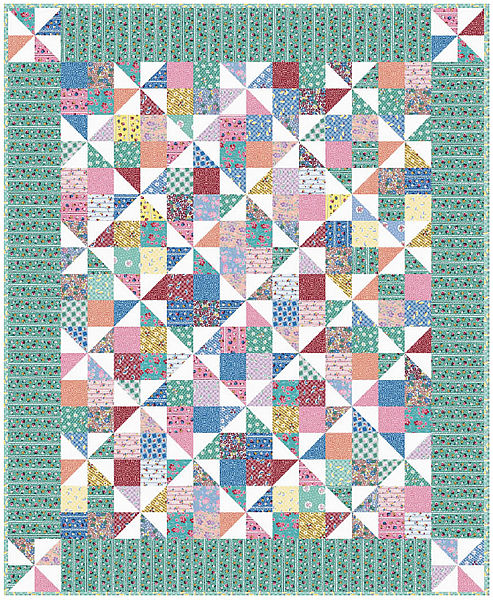 Quilt Pattern For Pinwheels : Pinwheel Fancy Quilt Free Pattern: Robert Kaufman Fabric Company