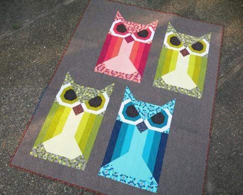 Allie Owl Designer Pattern: Robert Kaufman Fabric Company : owl quilt patterns - Adamdwight.com