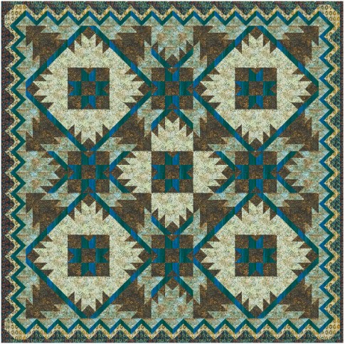 Southwest Mountains Designer Pattern: Robert Kaufman Fabric Company