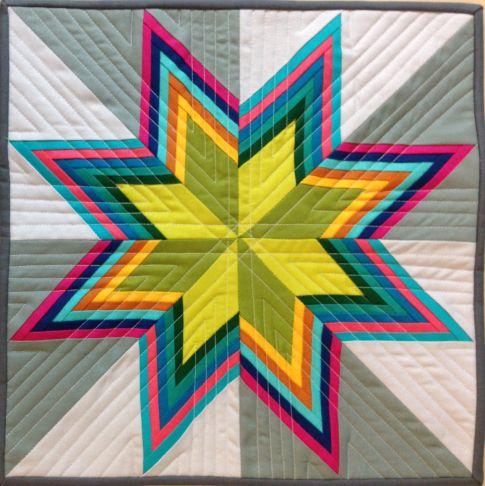 Striped Starburst Free Pattern: Robert Kaufman Fabric Company