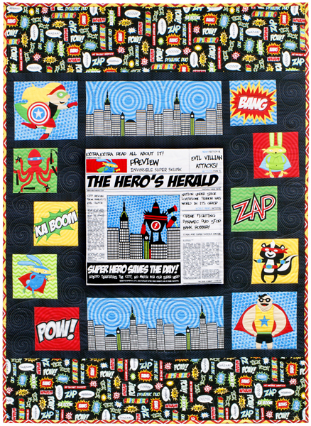 Superhero Quilt Free Pattern Robert Kaufman Fabric Company